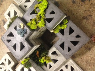 A terrain of handcrafted concrete modular blocks considers the sustainability of installations through a useful afterlife. Designed for Culture Lab Detroit's Greenspace edition (2015), an organization dedicated to fostering collaborations between Detroit and the international design community.